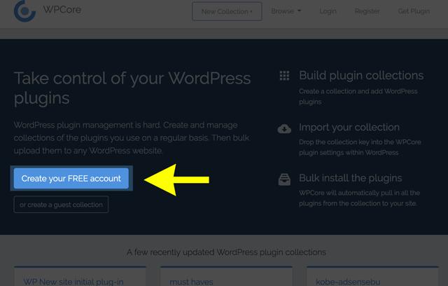 WordPressのプラグインを一括インストールする「WPCore Plugin Manager」のHP