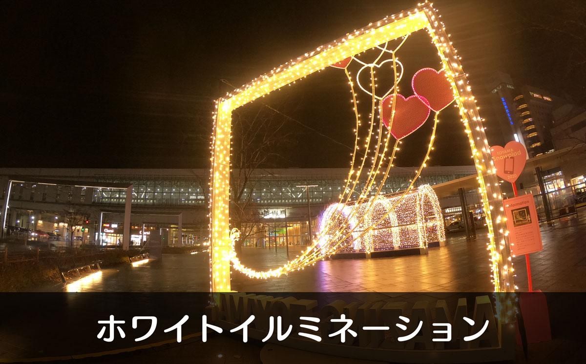 【ホワイトイルミネーション富山2019/2020】富山駅や城址公園がロマンチック!