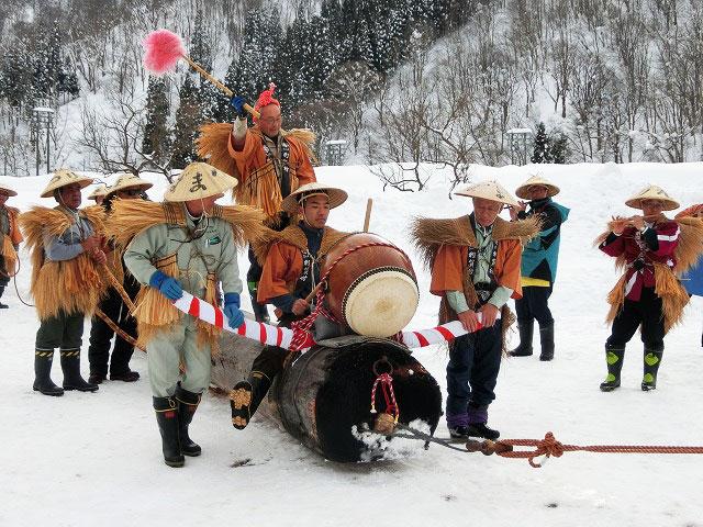 伝統行事「丑曳き」(南砺利賀そば祭り)