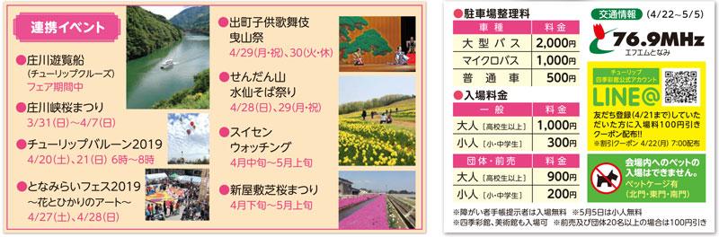 砺波チューリップフェア2019の関連イベント