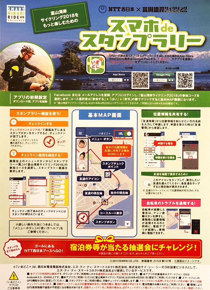 富山湾岸サイクリングのいまどこアプリ