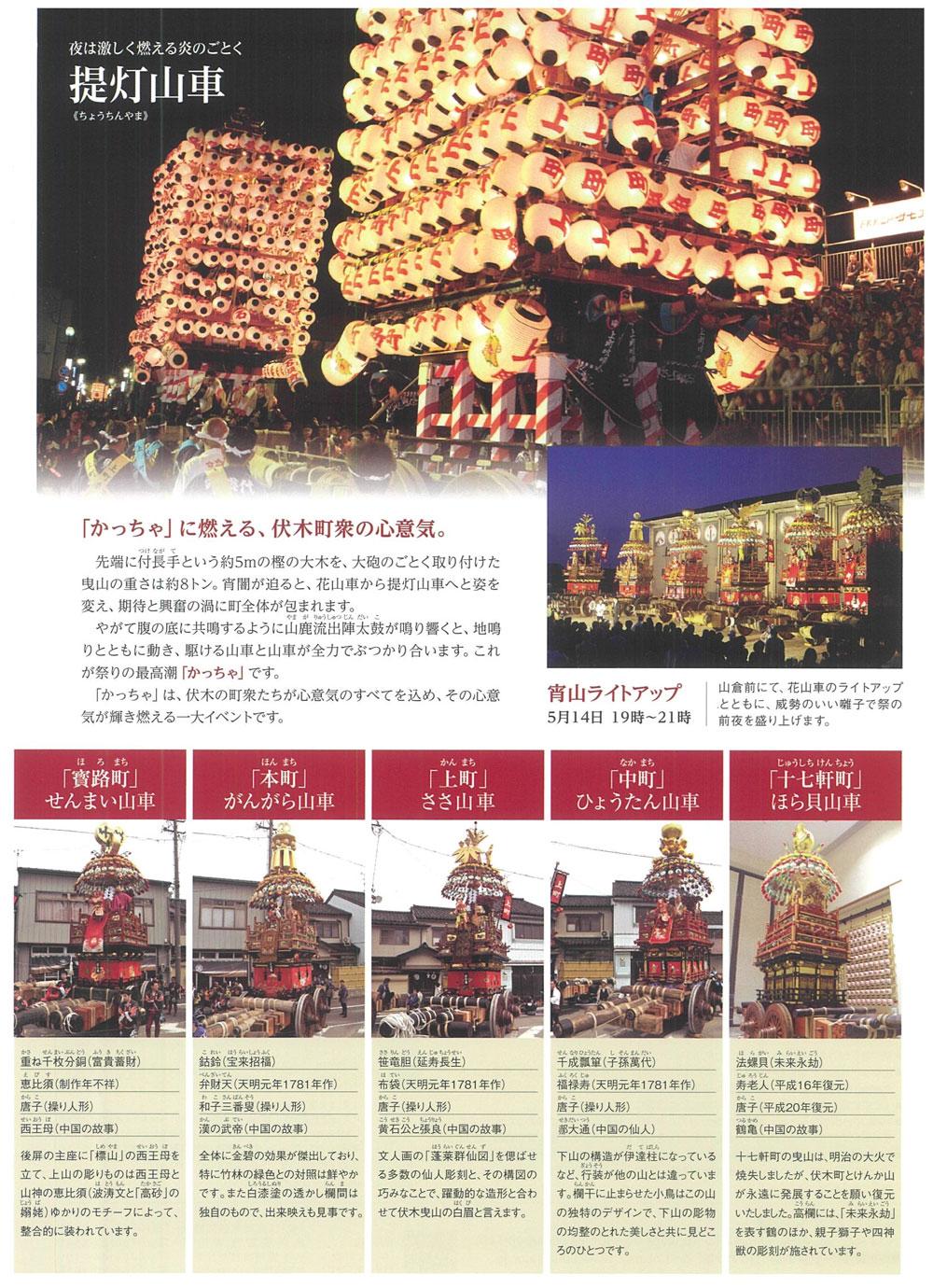 富山県の伏木曳山祭(ケンカ山)のパンフレット3