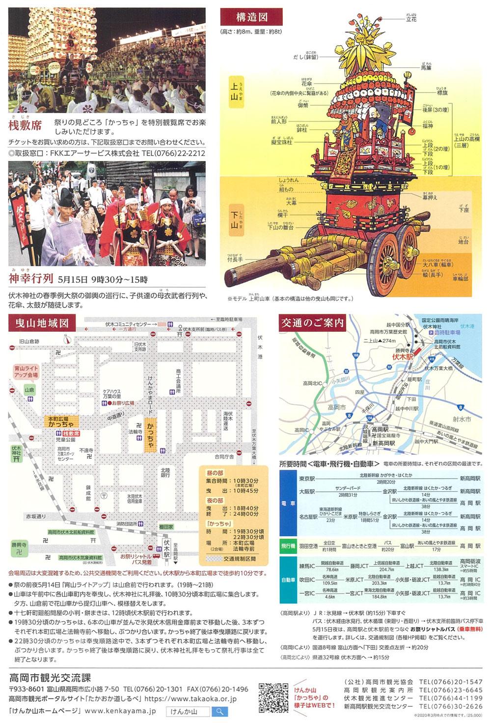 富山県の伏木曳山祭(ケンカ山)のパンフレット4