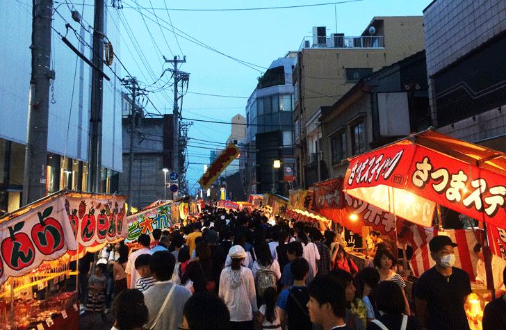 山王祭、日枝神社までの道