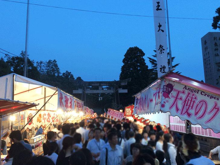 富山最大級のお祭り、山王祭(さんのさん)開催中の日枝神社までの道の混み具合2