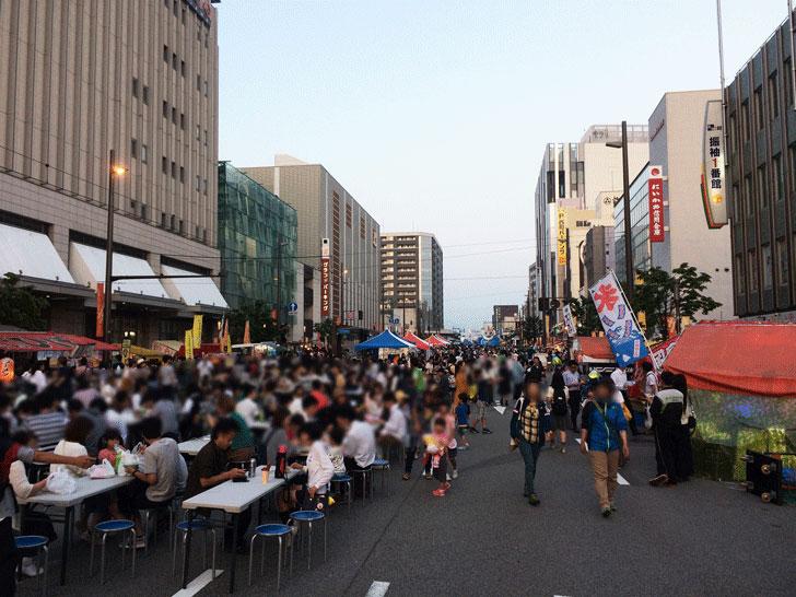 富山最大級のお祭り、山王祭(さんのさん)の歩行者天国