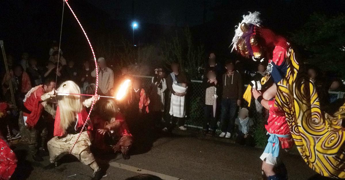 富山県射水市新湊の獅子舞「獅子殺し」