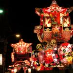 綺麗な行燈と大迫力の喧嘩祭り「砺波夜高祭」