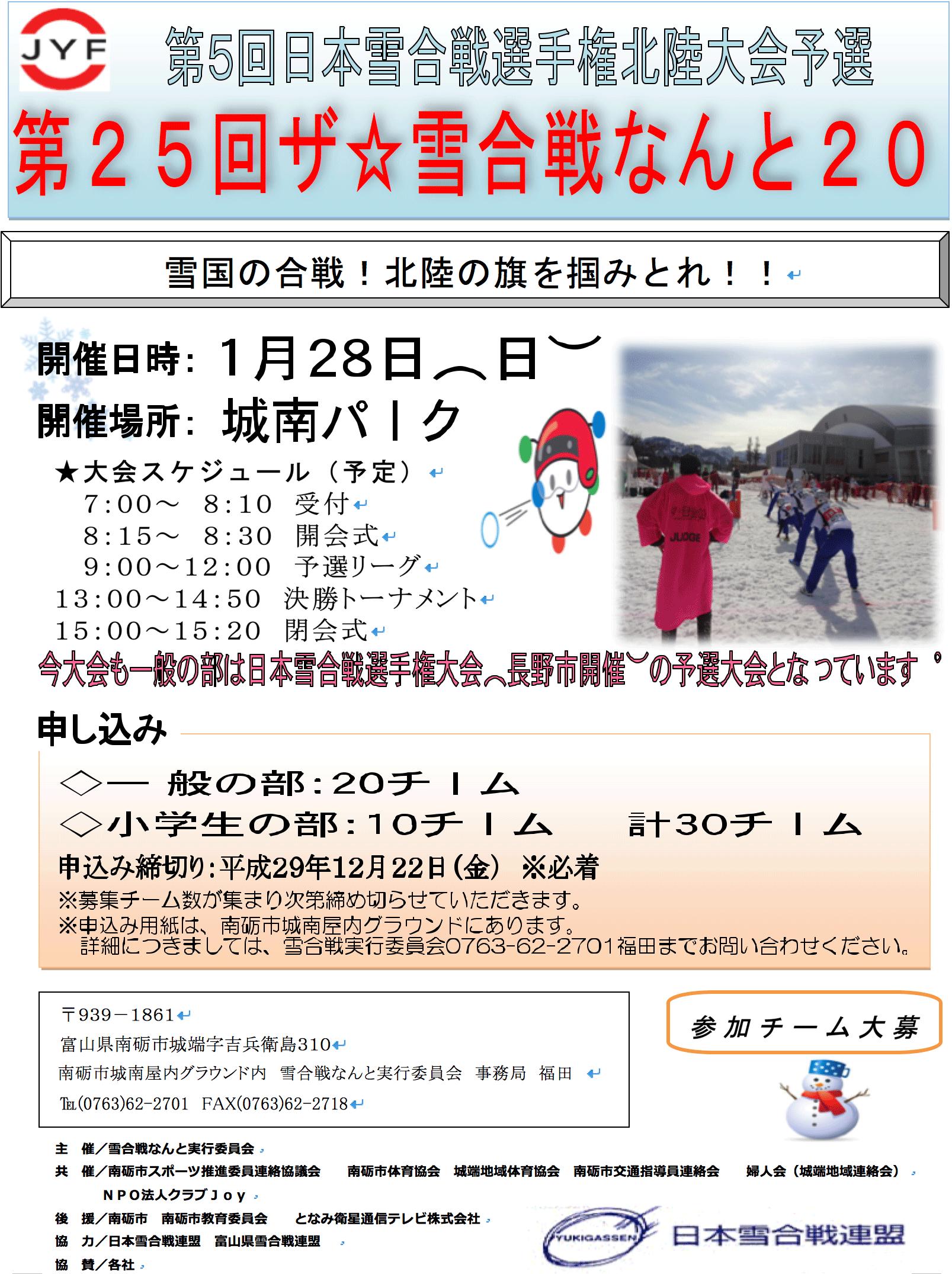 「第25回ザ☆雪合戦なんと2018」日本雪合戦選手権の予選ってなんかすごい!
