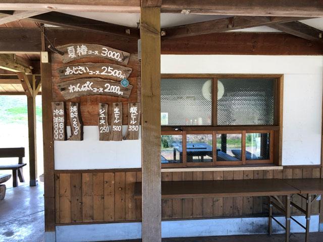 砺波市夢の平スキー場のコスモス荘のBBQスペース
