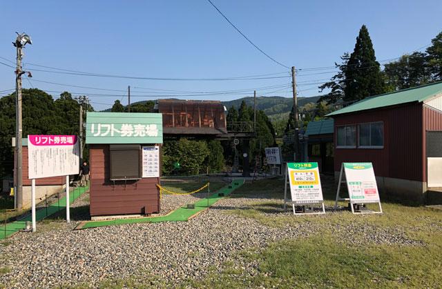 砺波市夢の平スキー場のリフト乗り場