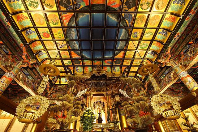 黒部市の白雪山 善巧寺(はくせつざんぜんぎょうじ)の天井画