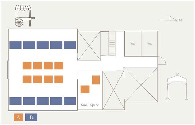 射水市新湊の「うちかわホリデイマーケット」の出店用マップ