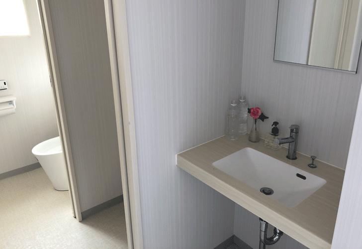 うちかわホリデイマーケットのトイレ
