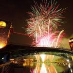 【環水公園夏まつり2018】水面に写る花火はキレイの一言。デートにぴったり☆
