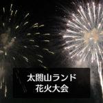 【太閤山ランド 花火大会】ミュージック花火大会の駐車場や特別観覧席!