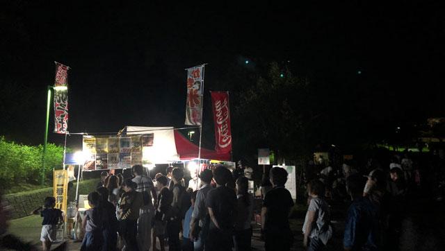 太閤山ランド花火大会の屋台2