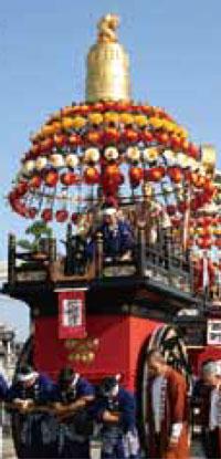 大門曳山祭り枇杷首の山車