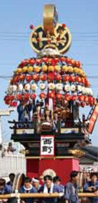 大門曳山祭り西町の山車