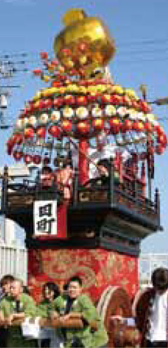 大門曳山祭り田町の山車