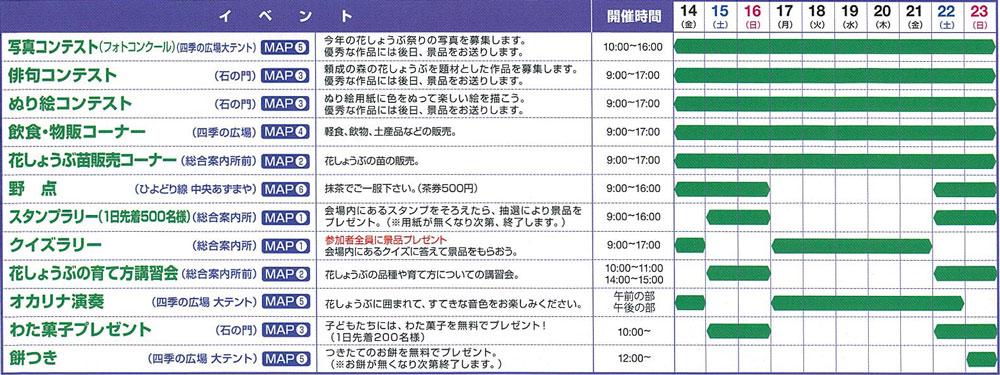 砺波市の花しょうぶ祭り2019のイベントスケジュール