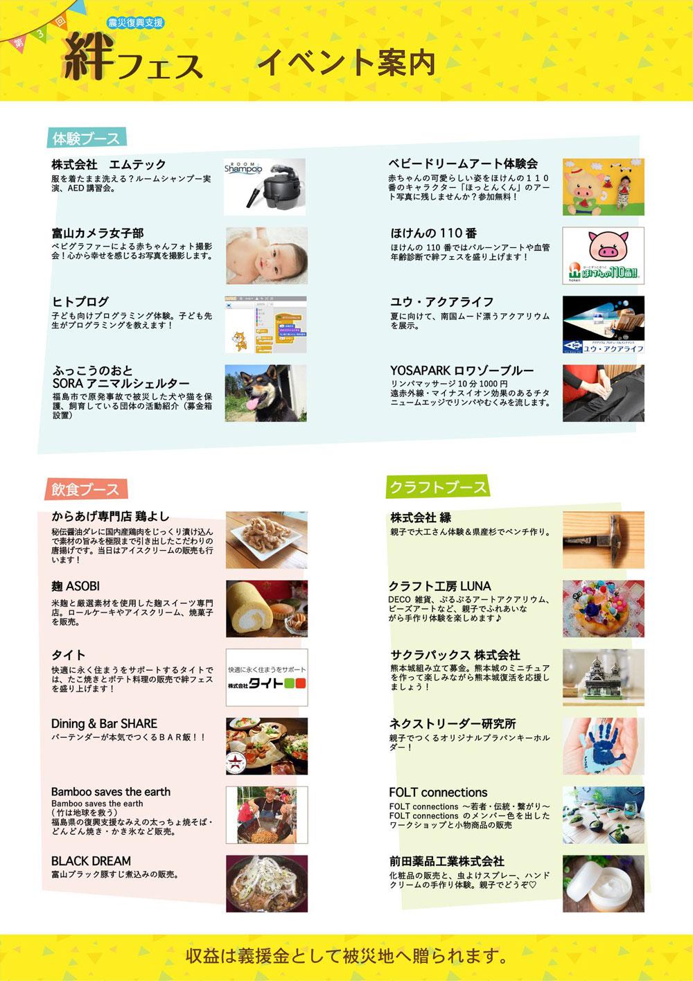 【絆フェス2019】収益は全て義援金として被災地へ!イベント内容