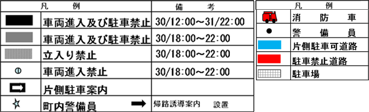 くろべ生地浜海上花火大会の交通規制マップの概要