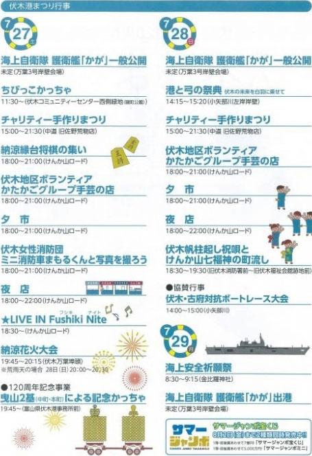 【伏木港まつり花火大会2019】開港120周年記念のイベントスケジュール!