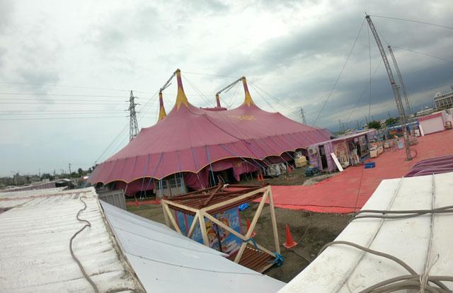 ポップサーカス富山公演の準備の様子