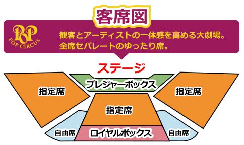 ポップサーカス富山公演の座席表