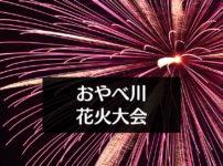 【おやべ川花火大会2019】打上げスケジュールや駐車場など周辺マップ情報!