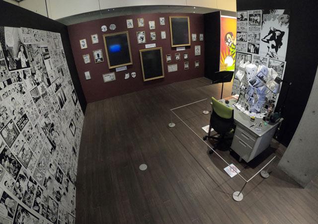 富山市高志の国文学館で開催されている「藤子不二雄A展」ブラックユーモアゾーン