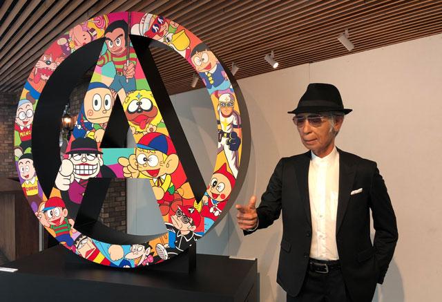 富山市高志の国文学館で開催されている「藤子不二雄A展」の人形