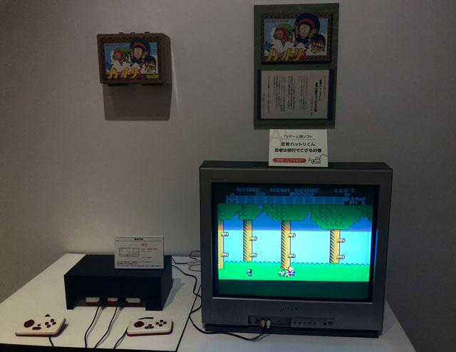 富山市高志の国文学館で開催されている「藤子不二雄A展」トキワ荘ゾーンの忍者ハットリくんのファミコンゲーム