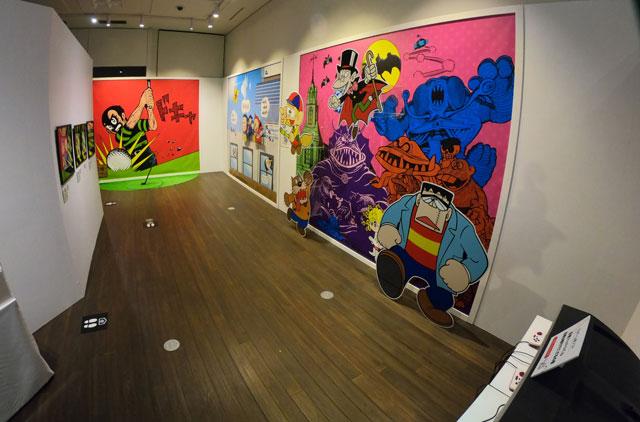 富山市高志の国文学館で開催されている「藤子不二雄A展」ポップゾーン