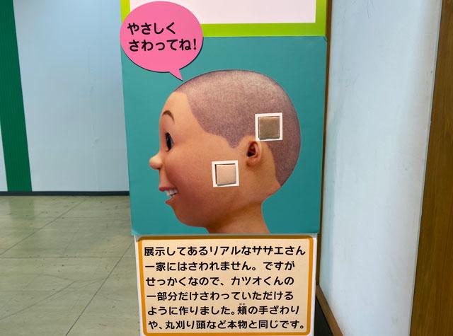 富山大和の「サザエさん展THE REAL」の触れるリアルカツオ