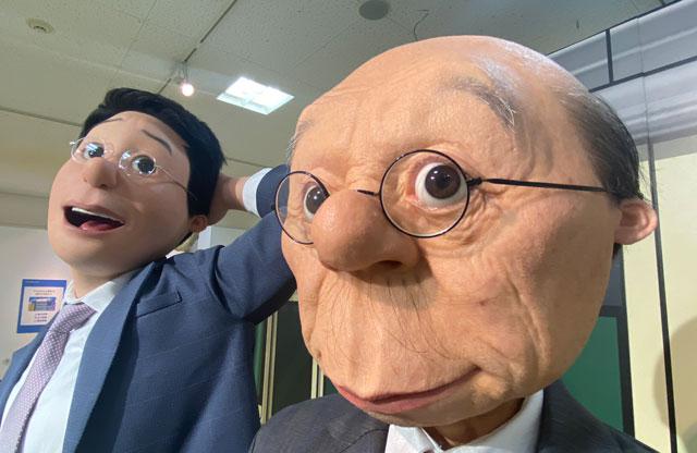 富山大和の「サザエさん展THE REAL」のリアル波平とマスオ
