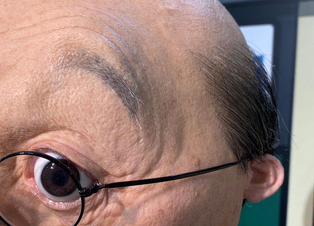 富山大和の「サザエさん展THE REAL」のリアル波平