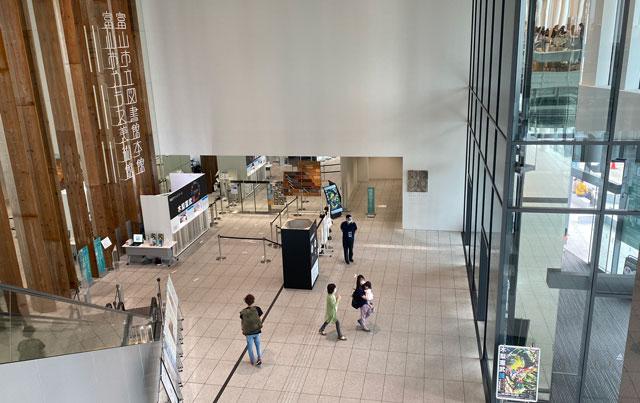 木梨憲武展 富山会場(富山市ガラス美術館)の平日の混み具合