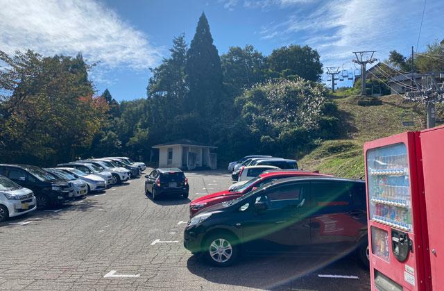 砺波市の夢の平スキー場の第2駐車場