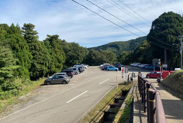砺波市の夢の平スキー場の第3駐車場