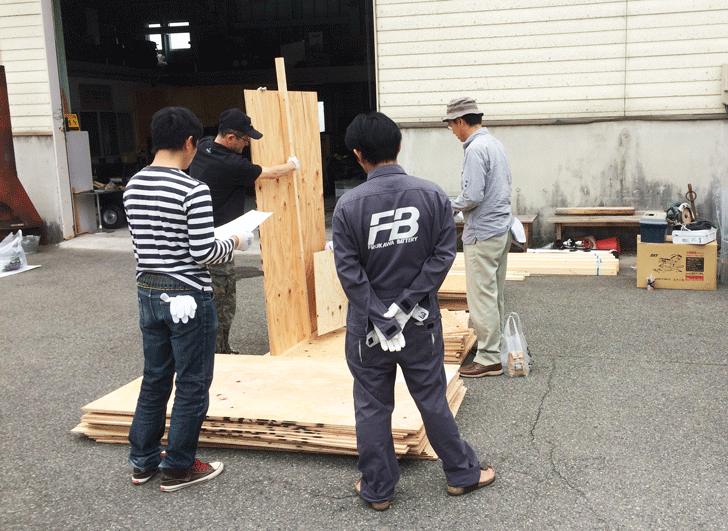 えんとつ町のプペル展用のボード制作4