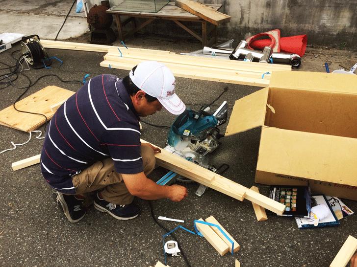 えんとつ町のプペル展用のボード制作3