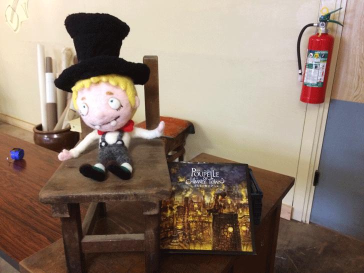じょうはな町のプペル展のルビッチ人形