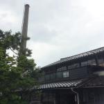 じょうはな町のプペル展の会場、松井機業