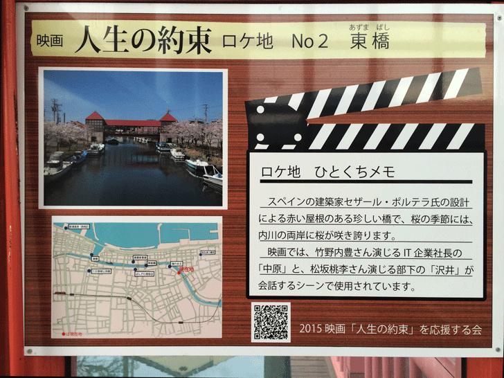 映画「人生の約束」ロケ地看板No2