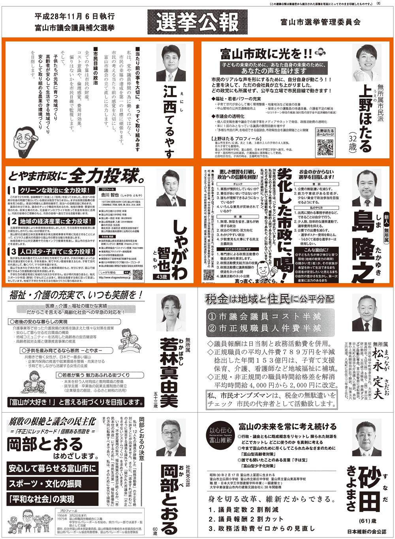 富山市議会議員補欠選挙2016当選者2