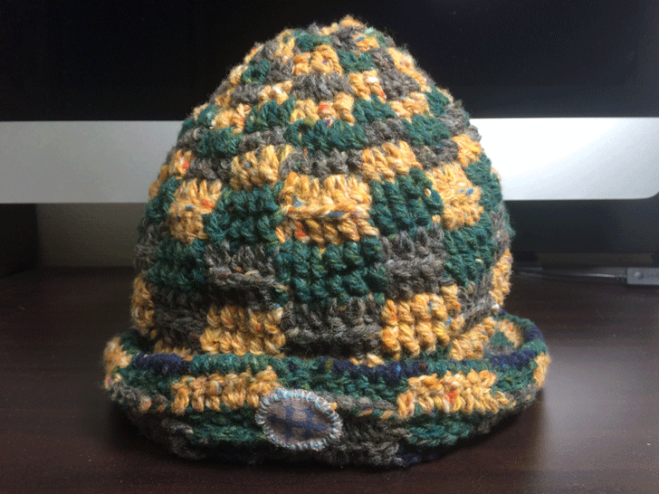 ヤモリ帽子