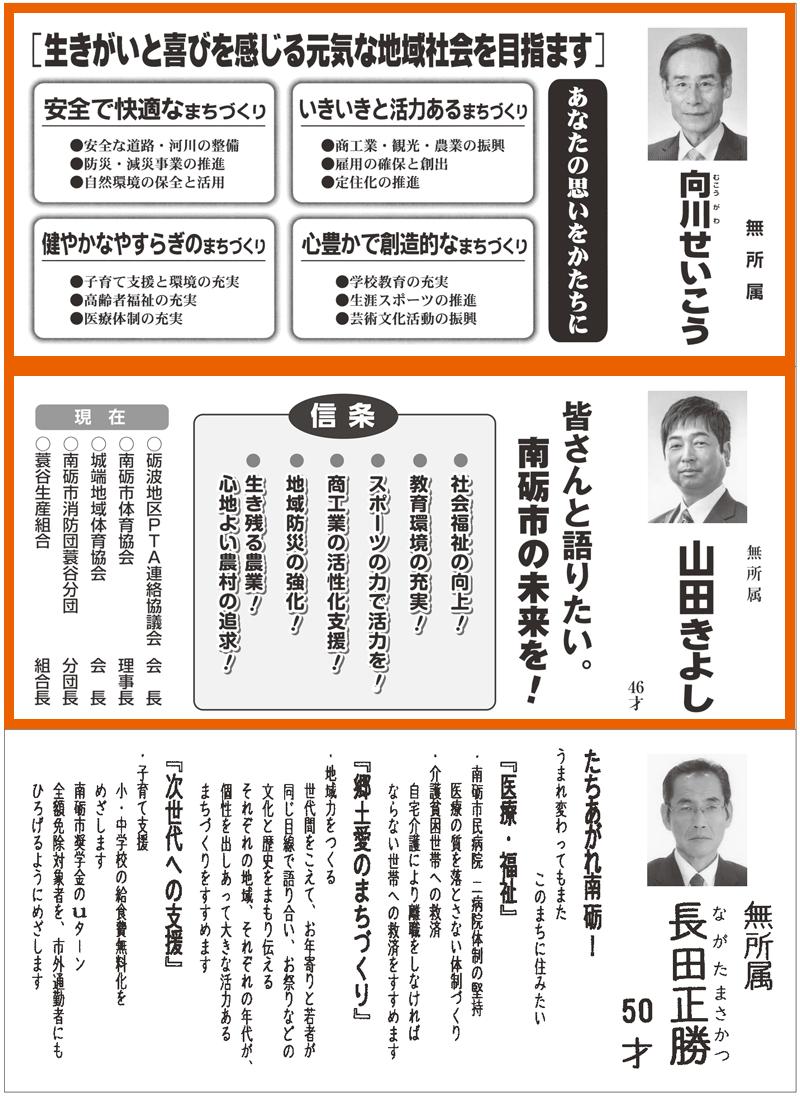 南砺市議会議員選挙広報2016当選者5
