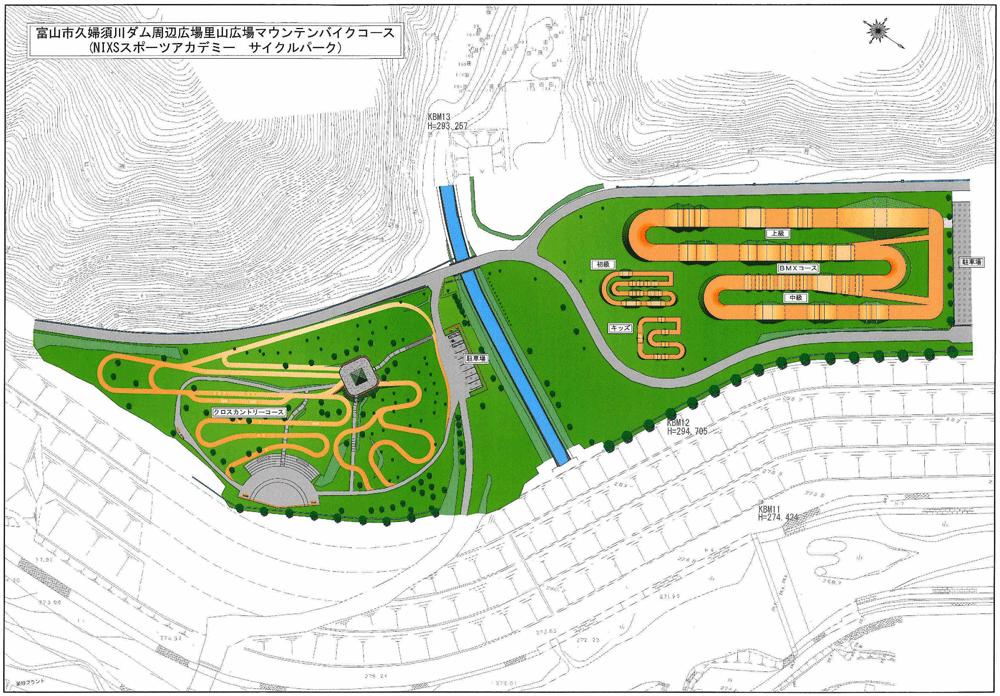 NIXSスポーツアカデミーサイクルパーク全体図
